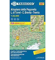 Tabacco Carta N.067 Altopiano della Paganella - L.di Tovel - C.Brenta - Trento - 1:25.000, 1:25.000