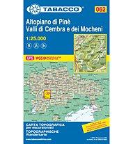 Tabacco Karte N.062 Altopiano di Pinè - Valli di Cembra e dei Mocheni - 1:25:000, 1 : 25.000