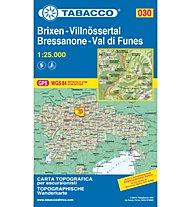 Tabacco Carta N.030 Bressanone Brixen-Val di Funes/Villnöss - 1:25.000, 1:25.000