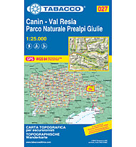 Tabacco Carta N. 027 Canìn - Val Resia - Parco Naturale Prealpi Giulie (1:25.000), 1:25.000