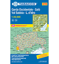 Tabacco Carta N.078 Garda Occidentale Salò Val Sabbia L.d'Idro - 1:25.000, 1:25.000
