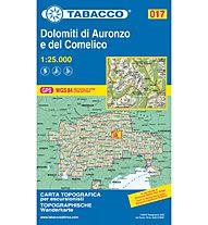 Tabacco Carta N° 017 Dolomiti di Auronzo e del Comelico (1:25.000), 1:25.000