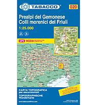 Tabacco Carta N° 020 Prealpi del Gemonese e colli morenici del Friuli (1:25.000), 1:25.000