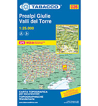 Tabacco Karte N° 026 Prealpi Giulie, Valli del Torre (1:25.000), 1:25.000