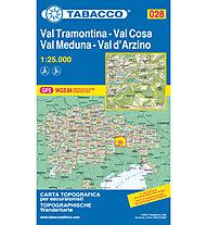 Tabacco Carta N.028 Val Tramontina, Val Cosa, Val Meduna, Val d'Arzino - 1:25.000, 1:25.000