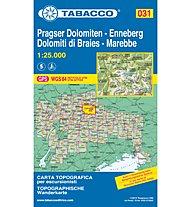 Tabacco Carta N.031 Pragser Dolomiten, Enneberg/Dolomiti di Braies, Marebbe - 1:25.000, 1:25.000