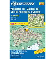 Tabacco Carta N.032 Valli di Anterselva e Casies - 1:25.000, 1:25.000