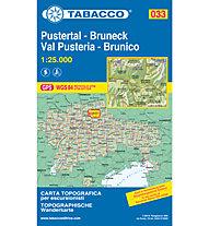 Tabacco Karte N.033 Pustertal/Bruneck - 1:25:000, 1:25.000
