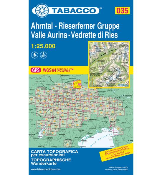 Valle Aurina Cartina Geografica.Tabacco Carta N 035 Val Aurina Vedrette Di Ries 1 25 000 Sportler Com