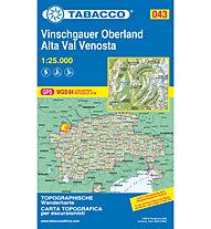 Tabacco Karte N.043 Alta Val Venosta - Vinschgauer Oberland - 1:25.000, 1:25.000