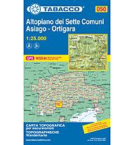 Tabacco Karte N.050 Altopiano dei Sette Comuni - Asiago - Ortigara  - 1:25.000, 1:25.000