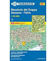 Tabacco Carta N.051 Monte Grappa - Bassano - Feltre - 1:25.000, 1:25.000