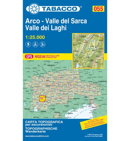 Cartina Topografica Lago Di Garda.Tabacco Carta N 055 Valle Del Sarca Arco Riva Del Garda Valle Dei Laghi 1 25 000 Sportler Com