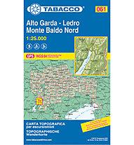 Tabacco N° 061 Alto Garda-Ledro Monte Baldo Nord (1:25.000), 1:25.000