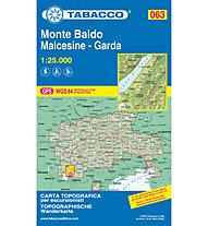 Tabacco Karte N.063 Monte Baldo - Malcesine - Garda - 1:25.000, 1:25.000