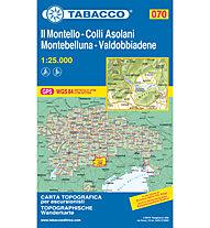 Tabacco Carta N.070: Il Montello - Colli Asolani - Montebelluna - Valdobbiadene 1:25.000, 1:25.000