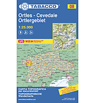 Tabacco Karte N.08 Ortles - Cevedale - Ortlergebiet - 1:25.000, 1:25.000