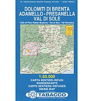 Tabacco N° 10 Dolomiti di Brenta - Adamello - Presanella - Val di Sole (1:50.000)