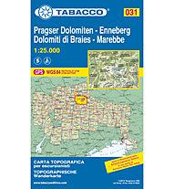 Tabacco N° 031 Pragser Dolomiten, Enneberg/Dolomiti di Braies, Marebbe (1:25.000), 1:25.000