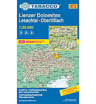 Tabacco Carta N.072 Lienzer Dolomiten Lesachtal - Obertilliach - 1:25.000, 1:25.000