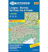 Tabacco Karte N.069 Livigno - Bormio - Val Viola - Val di Fraele - 1:25.000, 1:25.000