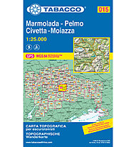 Tabacco N° 015  Marmolada-Pelmo-Civetta-Moiazza (1:25.000), 1:25.000