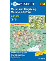 Tabacco Carta N. 011 Merano e dintorni (1:25.000), 1:25.000
