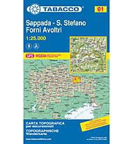 Tabacco N° 01 Sappada - Santo Stefano - Forni Avoltri (1:25.000), 1:25.000