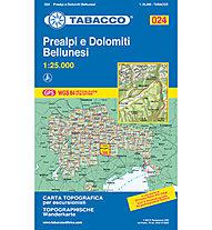 Tabacco N° 024 Prealpi e Dolomiti Bellunesi (1:25.000), 1:25.000
