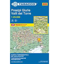 Tabacco N° 026 Prealpi Giulie, Valli del Torre (1:25.000), 1:25.000