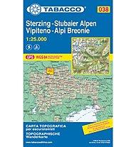 Tabacco N° 038 Vipiteno/Alpi Breonie - Sterzing/Stubaier Alpen (1:25.000), 1:25.000