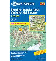 Tabacco Carta N.038 Vipiteno, Alpi Breonie - 1:25.000, 1:25.000