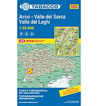 Tabacco Carta N.055 Valle del Sarca - Arco - Riva del Garda - Valle dei Laghi - 1:25.000, 1:25.000
