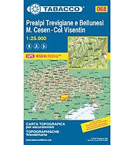 Tabacco Carta N. 068: Prealpi Trevigiane e Bellunesi M.Cesen - Col Visentin, 1:25.000