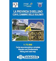 Tabacco Provincia di Belluno 1:75.000 carta escursionistica, 1:75.000