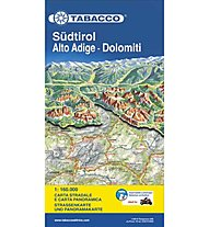 Tabacco Südtirol- Dolomiten 1:160.000 Panorama-Straßenkarte, 1: 160.000