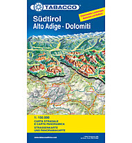 Tabacco Strassenkarte und Panoramakarte Südtirol - 1:150.000, 1:150.000