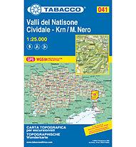 Tabacco Karte N. 041 Valli del Natisone - Cividale - Krn / M.Nero (1:25.000), 1:25.000