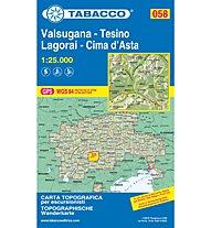 Tabacco Carta N.058 Valsugana - Tesino - Lagorai - Cima d'Asta - 1:25.000, 1:25.000