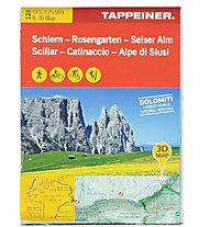 Tappeiner Verlag Schlern - Rosengarten - Seiseralm N.128 - Wanderkarte, 1:25.000