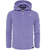 The North Face Glacier Full Zip Mädchen Fleecejacke mit Kapuze, Violet