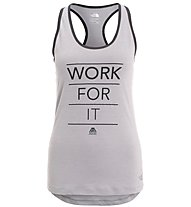 The North Face Graphic play hard - Top fitness - donna, Grey/Black