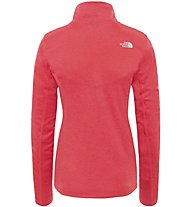 The North Face Hikesteller 1/4 - felpa con zip - donna, Red