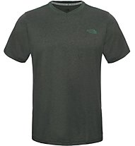 The North Face M Reactor S/S V-Neck T-Shirt fitness, Green