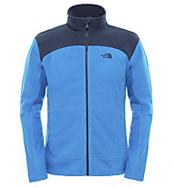 The North Face 100 Glacier Full Zip Fleecejacke, Bomber Blue/Cosmic Blue