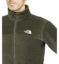 The North Face Men's Genesis Jacket Giacca in pile, Black Ink Green