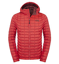 The North Face Thermoball giacca con cappuccio, Rage Red
