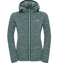 The North Face Nikster Full Zip Hoodie Damen Fleecejacke, Green