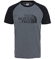 The North Face Raglan Easy - T-shirt trekking - uomo, Grey/Black