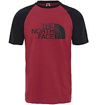 The North Face Raglan Easy - T-shirt trekking - uomo, Red/Black